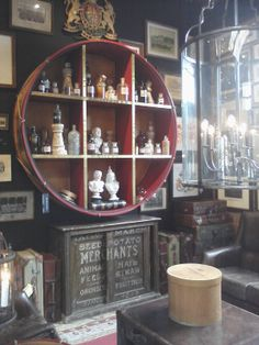Visual Display and Store Interior from Timothy Oulton, an anglophile and vintage furnishings dream store in Dallas, TX