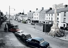 Photo of Carmarthen, Lammas Street 1959 from Francis Frith Hand Coloring, Beautiful Images, Vintage Cars, Britain, Cool Pictures, How To Look Better, Street View, Scene, Journey