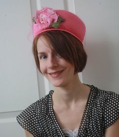 Vintage 60s Pink Veil Hat Bucket by soulrust on Etsy, $39.99