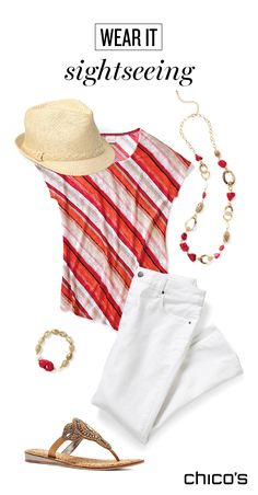 a5c6beb3294 Headed on a summer vacation  We created a relaxed and stylish look for a day