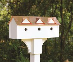 Sweet Suites Copper Roof Birdhouse in PVC~ options for birds!