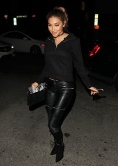 Chantel Jeffries out at The Nice Guy restaurant