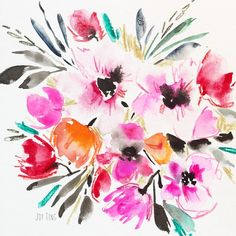 I love the watercolor paintings that Joy Ting Charde does... Beautiful!