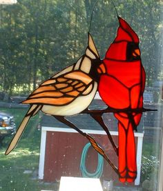 Cardinals - Delphi Stained Glass
