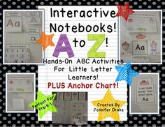 Have you been reading all about interactive notebooks/journals and wondering how to implement it in your PreK-1 classroom? Need hands-on activities from A to Z for your little letter learners? Want an anchor chart to introduce the notebook and give visual reminders to students as they complete their notebook activities independently in a center?
