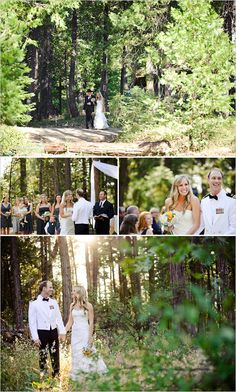 military forest wedding