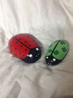 A personal favorite from my Etsy shop https://www.etsy.com/listing/263514106/hand-painted-ladybug-garden-rocks-with
