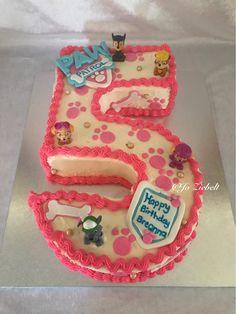 Paw Patrol Number 5 Cake