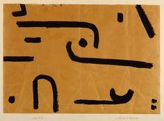 vjeranski:  suchend und findend, 1937 Paste color on paper on cardboard Paul Klee