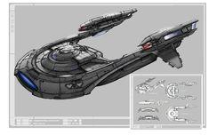 Phoenix Class Starship - Star Trek Online concept art