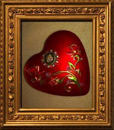Hübsche kleine Herzdose mit Straß verziert