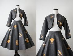 vintage 1950s safari dress set by 1919vintage on Etsy, $245.00