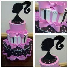 Resultado de imagem para bolo fake de eva da barbie Fake Cake, Bolo Fake, Barbie Party, Bridal Shower, Birthday Cake, Presents, Biscuit, Africa, Party Ideas