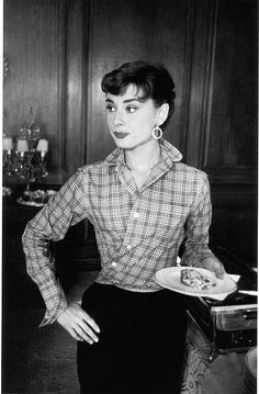 "Audrey Hepburn,(1954) on the set of ""Sabrina"".Was there ever such a lady?"