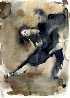 Tango watercolor