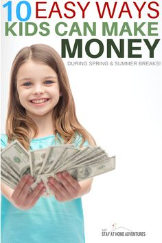 During the spring time kids can make money in so many different ways. Learn how kids can make money over spring break with these ideas.