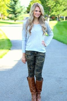 Skinny Camo Pants. I've never been a camo person, but this makes it okay.