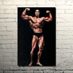 Arnold Schwarzenegger Bodybuilding, Bodybuilding Motivation Quotes, Gym Room, Nordic Art, Wall Canvas, Canvas Art, Wall Art, Sports Pictures, Art Pages