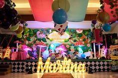 Martina's Alice in Wonderland Themed Party – Stage