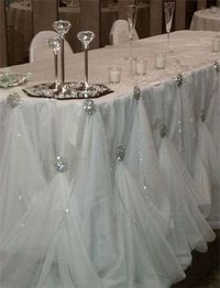 The Diamond table! Decorate the Wedding Party table as lavishly as you like - All eyes will be on it! : Hobby Lobby has these big diamond th...