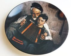"""Vintage Norman Rockwell Collectors Plate The Music Maker $28.00 