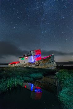 Glowing Point Reyes Boat by Toby Harriman on 500px