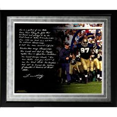 Lou Holtz Facsimile College Football Playoffs Framed Metallic 16x20 Story Photo