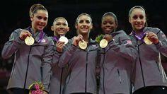 No, Gabby Douglas is not a victim of the two-per-country rule  -  August 7, 2016  -      London, 2012 — Gymnasts McKayla Maroney, Kyla Ross, Alexandra Raisman, Gabrielle Douglas and Jordyn ... - Matt Dunham, AP