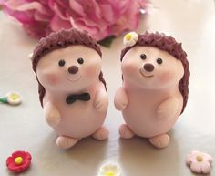 Unique Hedgehog wedding cake toppers Personalized by PassionArte, $70.00