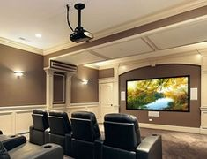 The good home theater design is a room that can be enjoyed comfortably while hanging out with family and friends. Here are some explanations about the Home Theater Room Design Ideas that can inspire you to design your Home Theatre room. Home Theater Basement, Home Theater Setup, Best Home Theater, Home Theater Speakers, Home Theater Rooms, Home Theater Projectors, Home Theater Seating, Home Theater Design, Basement Ideas