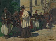 Alms by Jozef Hanula, 1894. Slovak national gallery, CC BY