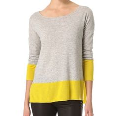 Vince Cashmere Sweater Gently worn. In excellent condition! Looks so cute with white jeans or partially tucked in with shorts. Reasonable offers are welcome and will be considered! Hand wash!! Vince Sweaters