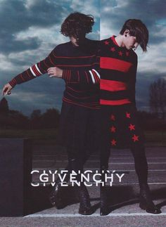 Jarrod Scott (FORD) and Rodrigo Braga (@Request Models) for Givenchy F/W 12. Shot by Mert Alas and Marcus Piggott