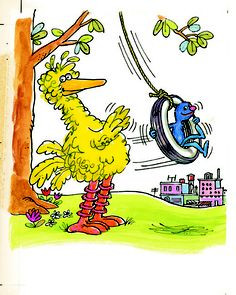 Illustration by Roger Bradfield from The Sesame Street Together Book (1971).