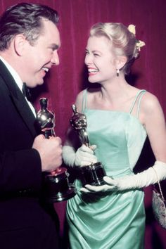 A history of what every Oscar Best Actress winner has worn to accept her award: Grace Kelly