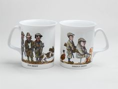 Fun Shoot Serious Shoot China Mugs Bone China Dishwasher Proof Sold in sets of Country Scenes, China Mugs, Bone China, Pottery, Tableware, Dishwasher, Fun, Amazon, Hunting