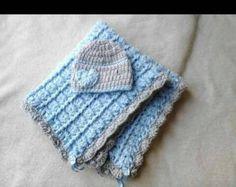 crochet baby blanket crochet girl blanket newborn boy hat