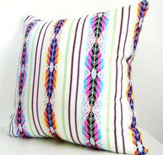 Tribal Pillow, Geometric Decorative Pillow, Aztec, Mexican, Bright,  14x14 Inch, Cyber Monday Etsy. $39.50, via Etsy.
