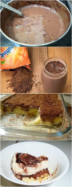 Pavê de Ovomaltine,,SIMPLESMENTE AMOO!!❤️ VEJA AQUI>>>Misture em uma panela o leite condensado, as gemas e o leite (o equivalente a uma lata) e leve ao fogo mexendo sempre até ferver e engrossar. Despeje em um pirex médio e deixe esfriar. Reserve. #receita#bolo#torta#doce#sobremesa#aniversario#pudim#mousse#pave#Cheesecake#chocolate#confeitaria