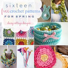 16 adorable crochet patterns for Spring. These quick and easy projects are bright and beautiful! #crochet #crochetideas