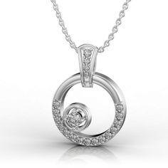 Dancing Diamond in White Gold Pendant Gold Pendant, Pendant Necklace, Diamonds And Gold, Diamond Jewelry, Jewelry Collection, Dancing, White Gold, Wedding Rings, Pendants