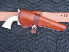 Cross Draw holster with belt tunnel. This one was made for an 1860 Army. My pattern is adaptable to larger like a Dragoon or smaller like a Ruger Single Six.