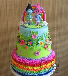 Image result for troll birthday cake ideas