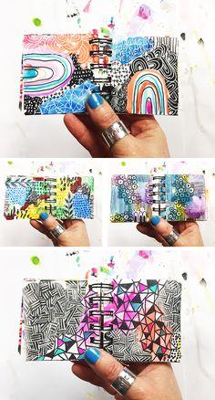 mini art journal from Alisa Burke