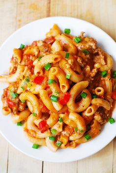 Mac and Cheese with Sausage and Bell Peppers