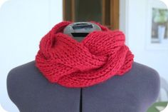 Free Knitting Pattern - Cowls and Neck Warmers: Clara Cowl with loose cabling pattern