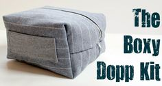 gift for guys guest tutorial- boxy dopp kit by the cottage mama | kojodesigns