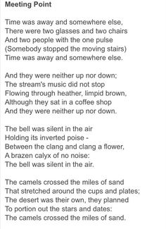meeting point louis macneice - Google Search