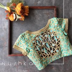 It's calm under the waves in the blue of my oblivion #Embroideryblouse #CutworkblousesbyNyshka #Nyshkablouse