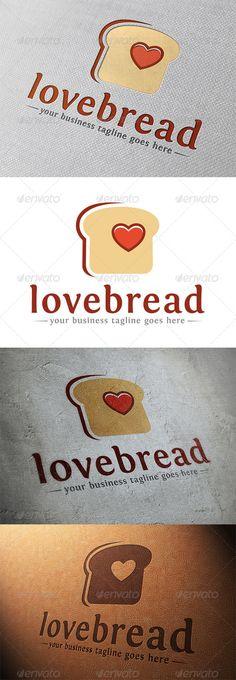 Love Bread Logo Template — Vector EPS #restaurant #online service • Available…